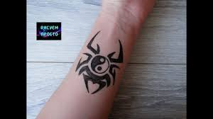 тату инь янь на руке гелевой ручкой301tattoo Yin Yang On The Hand Gel Pen