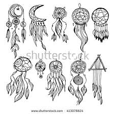 What Native American Tribes Use Dream Catchers Dream Catcher Dreamcatcher Aztec Feather Tribal Stock Vector 46