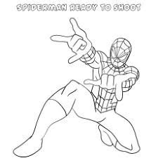Super hero on the background of the web. 50 Wonderful Spiderman Coloring Pages Your Toddler Will Love