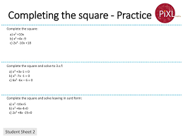 9 completing the square practice
