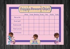 Personalised Doc Mcstuffins Kids Rewards Chart Chart For