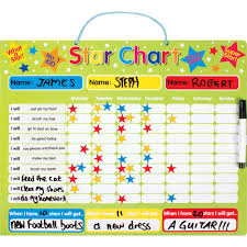 Reusable Reward Charts For Toddlers Star Reward Chart Star Chart For Kids Toddler Reward