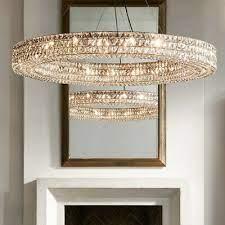 spiridon ring chandelier round crystal