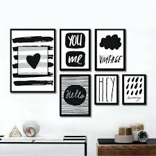 black white wall art modern black white quote art canvas painting poster prints wall art picture black white wall art