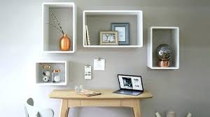 White Square Floating Shelves