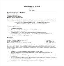 Federal Resume Template Best Federal Resume Templates Free Federal Resume Template 100 Free 12