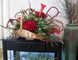 Basket Flower Decoration Silk Flower Arrangements A Classic Bouquet