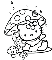Printable Kitty Coloring Pages Hello Children Free Sheets Pr Seaahco