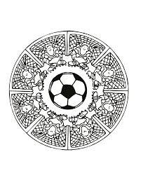 Free Mandalas Page Mandalas Foot Football