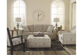 Alenya casual and quartz colored sofa couch and oversized ottoman
