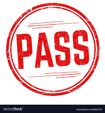 Pass Sign Or Stamp