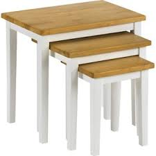 white side tables. Elvina 3 Piece Nest Of Tables White Side