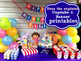 How to make Dora the explorer cupcake toppers & happy birthday banner at  home with Free printables - YouTube