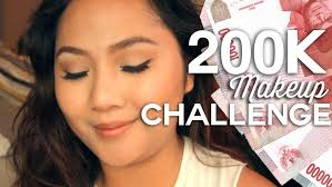 200k makeup challenge day time makeup bahasa indonesia delaniamarvella you