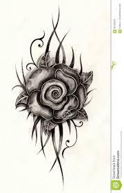 татуировка розы искусства иллюстрация штока иллюстрации