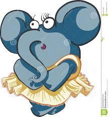 Shy Girl Dancing Elephant stock vector. Image of dancing - 51611283