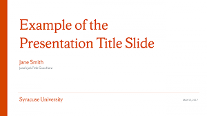 Ppt Templates For Academic Presentation Powerpoint Templates Syracuse University