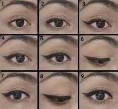 cat eye eyeliner step by step diagram
