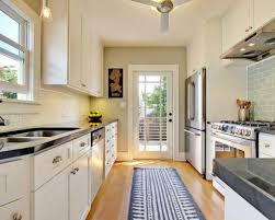 Modern Galley Kitchen Modern Galley Kitchen With Skylight Make A Galley Kitchen Seem