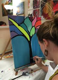acrylic painting ideas for beginners ardor studio is not your average art class located in