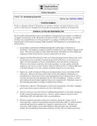 transform housekeeping resume responsibilities for housekeeping