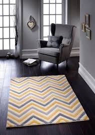 cabone yellow and grey rug