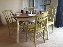 Kitchen  Wood Farmhouse Table Farmhouse Dining Room Set Oak Country Style Table And Chairs