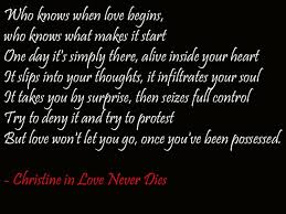 Musical Love Quotes Impressive Love Never Dies Quotes Pelfusion