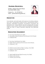 Objective For School Teacher Resume Primary School Teacher Resume Sample Teacher Resume Template 41