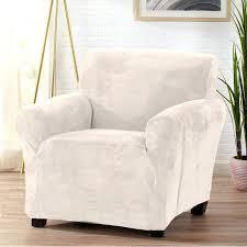 arm chair slip cover velvet plush form fit stretch t cushion armchair slipcover ikea chair slipcovers