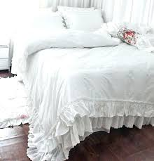 white ruffle duvet lace ruffled cover bedding sets twin single quilt