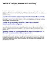 admission essay for james madison university by yulya smirnova issuu