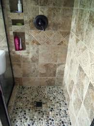 rock shower floor river
