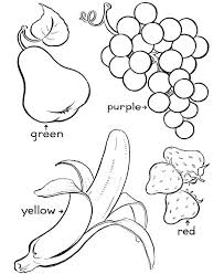 Printable Fruit Coloring Pages Trustbanksurinamecom