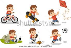 playing cartoon cartoon boy download free vector art stock graphics images