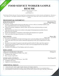 Fast Food Worker Resume Fast Food Resume Sample publicassetsus 40