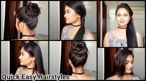 Simple Hairstyles For College Everyday Quick Easy Hairstyles Indian Hairstyles For Medium Long