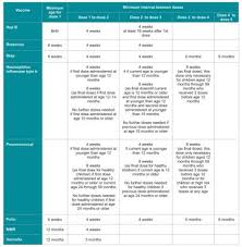 Child Immunisation Chart The Baby Immunisation Schedule In Dubai Ewmums Com