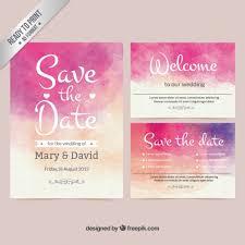 Wedding Invitations Watercolor Watercolor Wedding Invitation Vector Free Download
