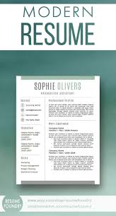 Resume Design Shop Etsy To Purchase This Modern Resume Template