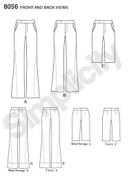 Flare Pants Pattern Gorgeous Simplicity 48 Amazing Fit Miss And Plus Size Flared Pants Or Shorts