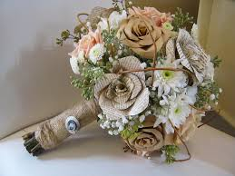 Paper Flower Bouquet For Wedding My Dream Bouquet Book Page Flowers With Real Flowers In
