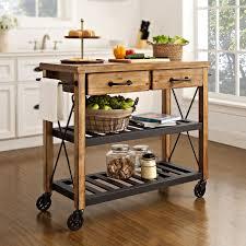 Industrial Kitchen Furniture Roots Rack Natural Industrial Kitchen Cart Crosley Furniture