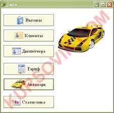 База данных Такси ado access Курсовая работа на delphi  База данных quot Такси quot ado access 2 12 Курсовая работа delphi