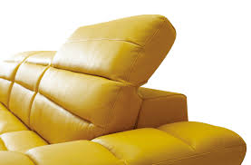 Yellow leather chair Old La Furniture Store Divani Casa Leven Modern Yellow Leather Sectional Sofa