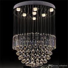 led flush mount modern res crystal chandelier ceiling lighting fixtures dia60 h100cm foyer lights large spiral lamp for living room dining room