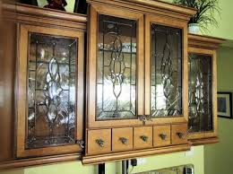 Perfect Beveled Cabinet Glass Inserts   Roy Residence Traditional Kitchen Home Design Ideas