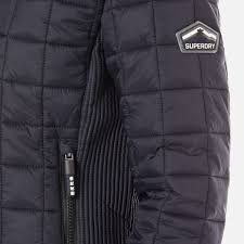superdry women s hooded box quilt fuji jacket new navy image 6