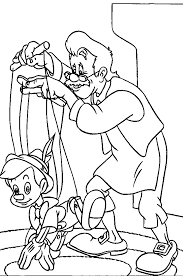 Pinocchio Learn To Walk Pinocchiocoloring Pagescolouringdrawing