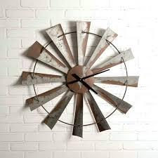 windmill wall clock large metal future ship
